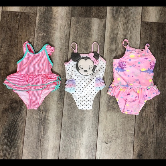 Other - Baby Girl Swimwear Lot 9-12 Months ( 3 swimsuits)